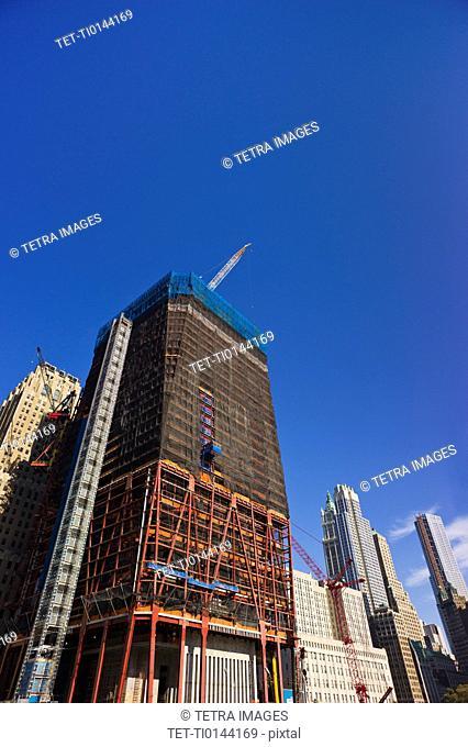 USA, New York, New York City, Construction site of World Trade Center