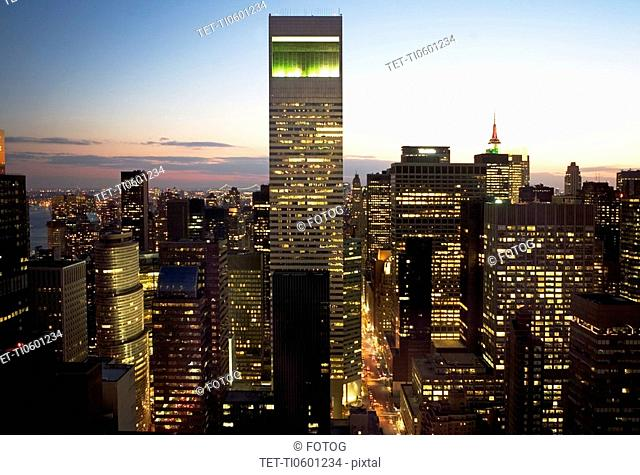 Citicorp building and New York City skyline