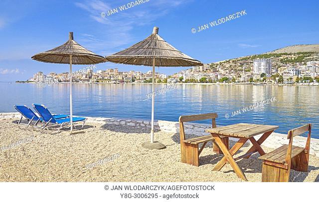 Sarande (Saranda) resort beach, Albania