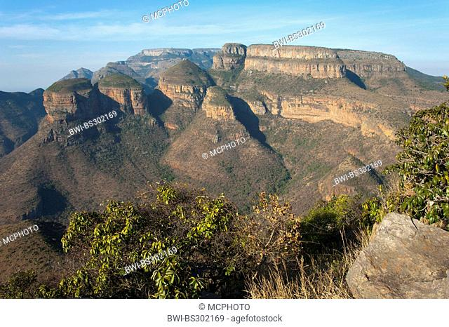 rocks 'The Tree Rondavels' in the Blyde River Canyon, South Africa, Mpumalanga, Panorama Route, Graskop