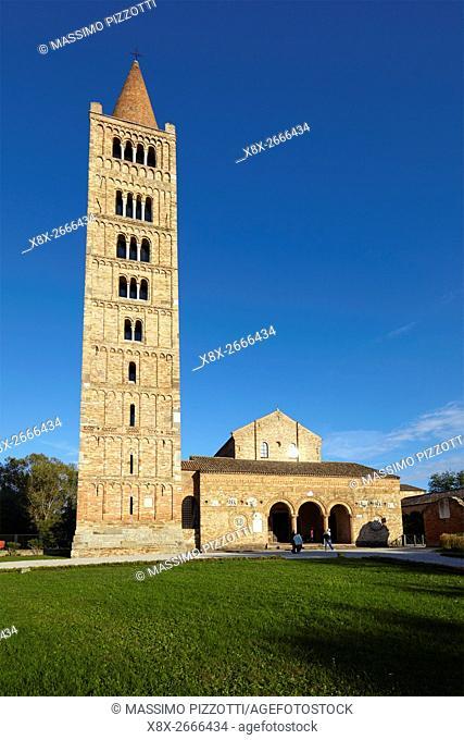 The belfry of Pomposa Abbey, Codigoro, Italy