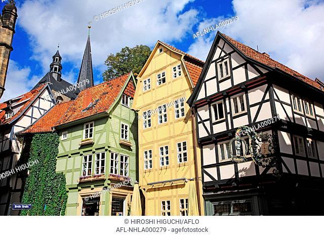 Germany, Saxony Anhalt, Old Town of Quedlinburg, UNESCO World Heritage