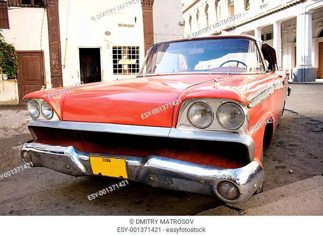 Cuba. Old car in Havana