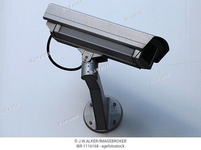 Surveillance camera on a house wall, Frankfurt, Hesse, Germany
