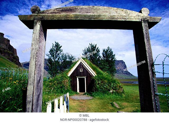 An old church at Nupsstadur, Iceland