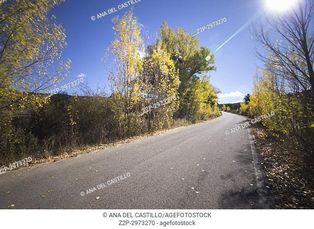 Autumn country, Alcala de la Selva, Teruel, Aragon, Spain