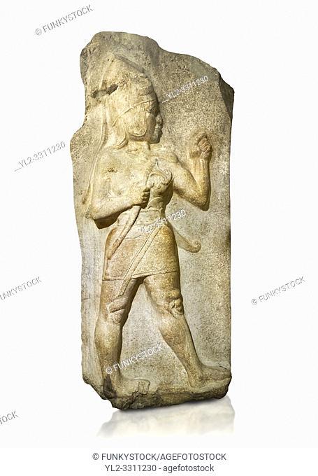 Relief of God of War. Limestone, Kings Gate, Hattusa ( Bogazkoy ). 14th - 13th Century BC. Anatolian Civilisations Museum, Ankara, Turkey.