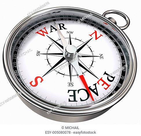 peace versus war concept compass
