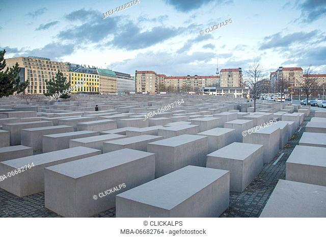 The Holocaust memorial monument in Mitte district - Berlin - Germany