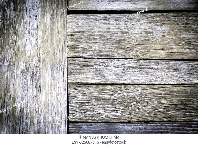 Texture and pattern of old wooden background