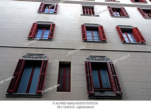 residential building, Gracia district, Barcelona, Catalonia, Spain