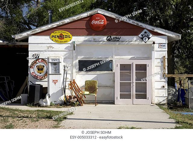 Americana gas station in Crawford Nebraska, Northwestern portion of state