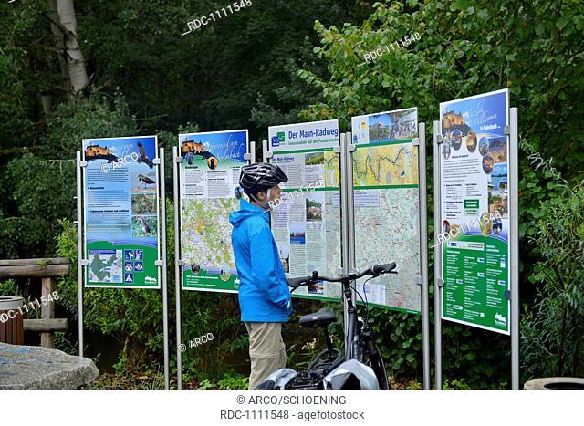 Infotafeln, Main-Radweg, Bayern, Deutschland