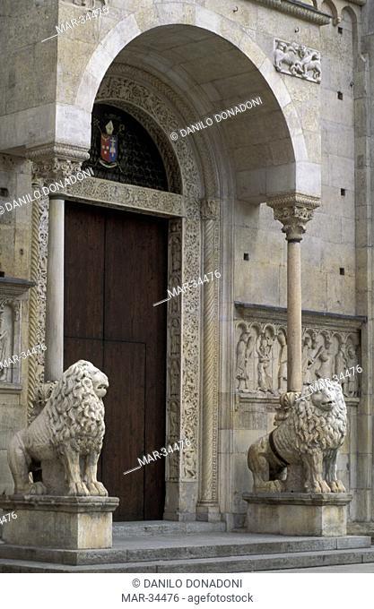 cathedral portal, modena, italy