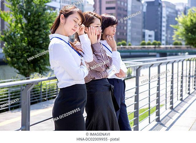 Business women being worried