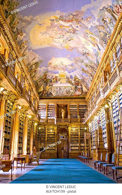 Czech Republic - Prague - Hradcany Prague 1 District - Convent of Strahov - Library - Philosophy Hall
