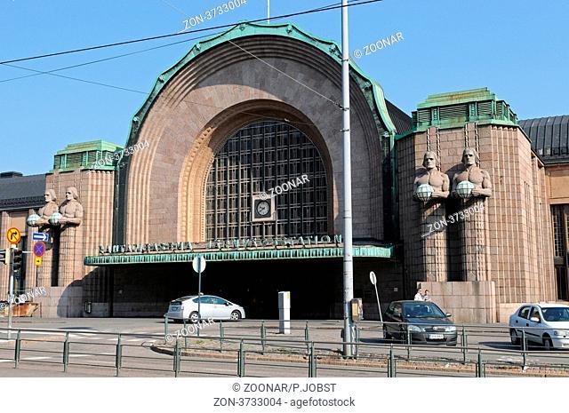 Der Hauptbahnhof der finnischen Hauptstadt Helsinki / Central station of the finish capital Helsinki