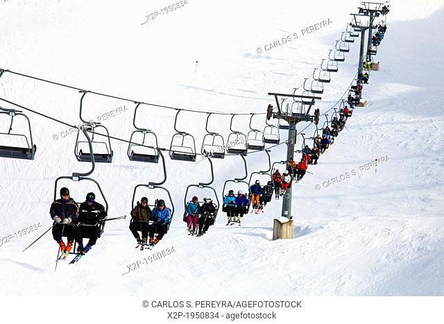Axamer Lizum, ski station at Innsbruck, Tyrol, Austria, Europe