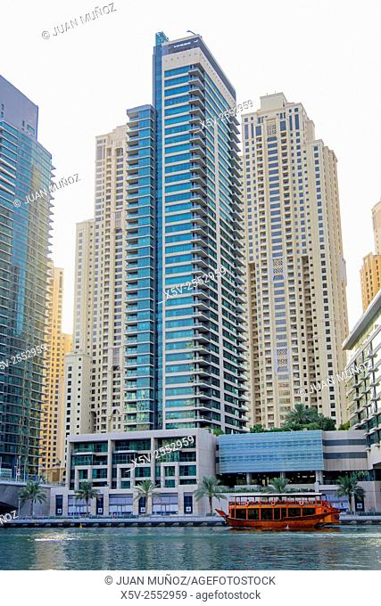 Dubai Marina. Dubai. United Arab Emirates. middle East