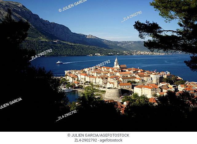Croatia, Dalmatia, Korcula island, Korcula town