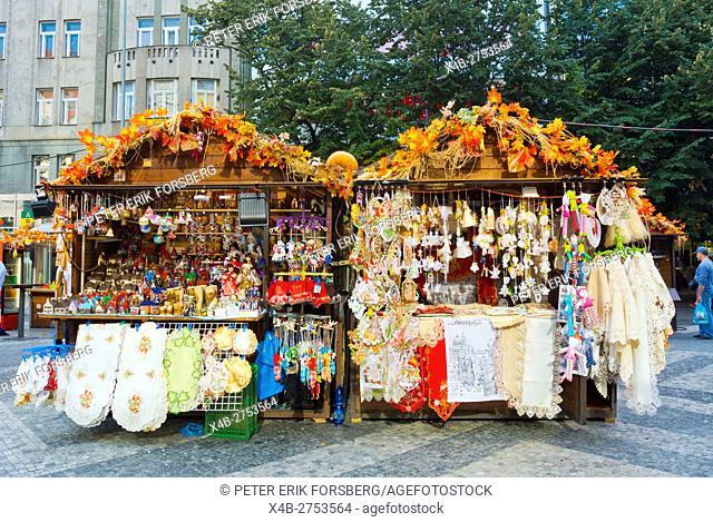 Vaclavske thry, autumn market, Vaclavske namesti, Wenceslas Square, Prague, Czech Republic