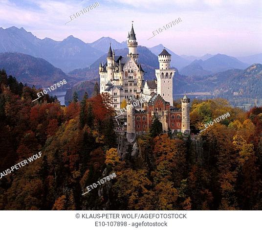 Neuschwanstein Castle. Bavaria, Germany