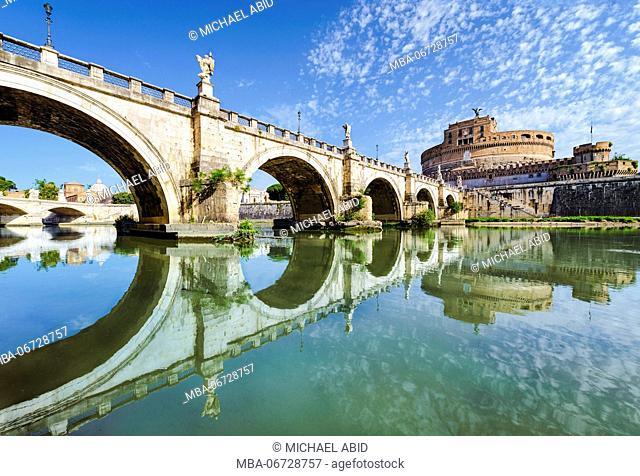 Bridge and castle Sant Angelo, Rome, Italy