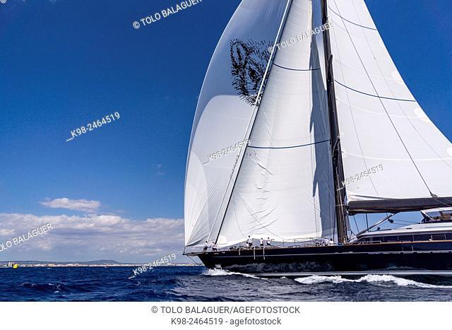 The Superyacht Cup Palma, bahia de Palma, Majorca, Balearic Islands, Spain