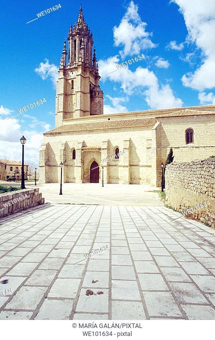 San Miguel church. Ampudia, Palencia province, Castilla León, Spain