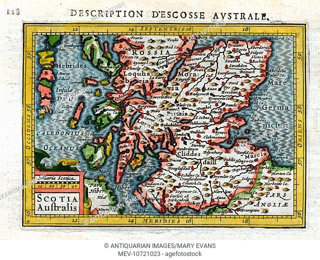 Scotia Australis - 17th century Map of South Scotland