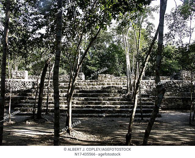 Coba, ruined city of the Pre-Columbian Maya civilization (600 A.D.). Quintana Roo, Mexico