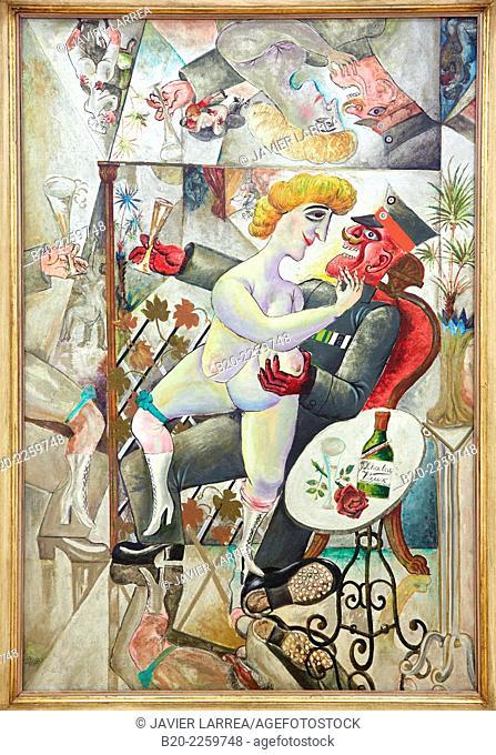 Erinnerungen an die SpiegelsŠle von BrŸssel, 1920. Otto Dix. Centre George Pompidou. Musee National d'Art Moderne. Paris. France