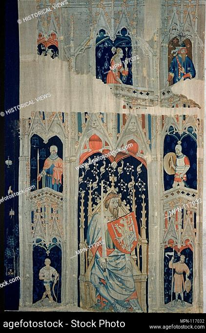 Alexander the Great or Hector of Troy (from the Nine Heroes Tapestries). Date: ca. 1400-1410; Culture: South Netherlandish; Medium: Wool warp