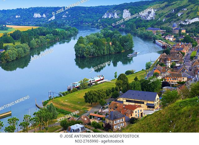 Les Andelys, Meander of Seine river, Seine river, Seine valley, Normandy, France
