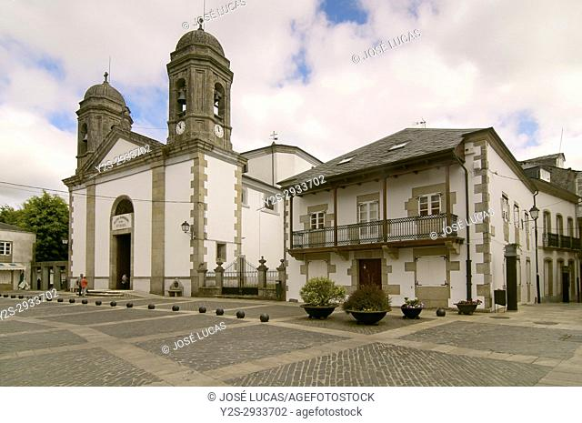 Parish church of Santa Maria (19th century), Villalba, Lugo, Region of Galicia, Spain, Europe