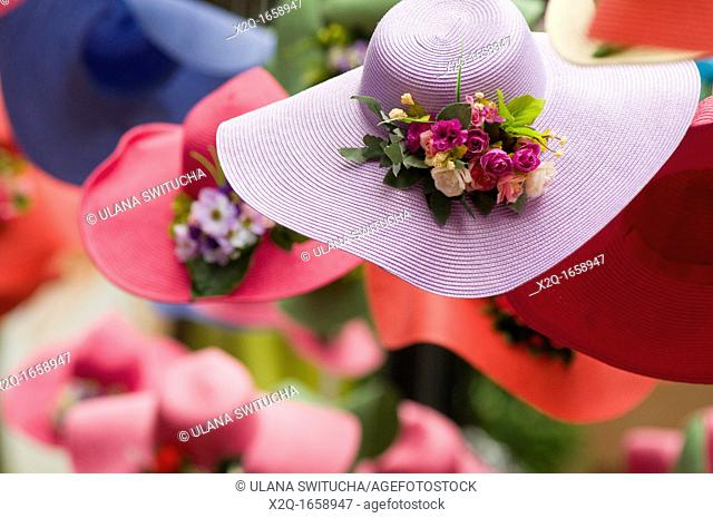 Colourful spring hats