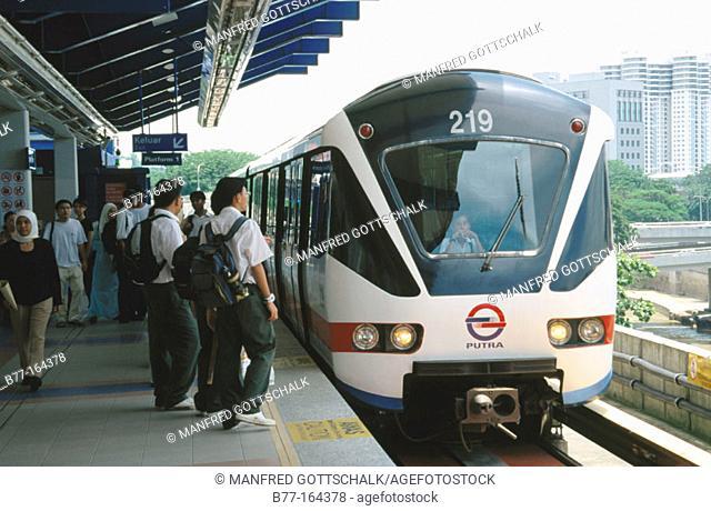 New light rail transit. Kuala Lumpur. Malaysia