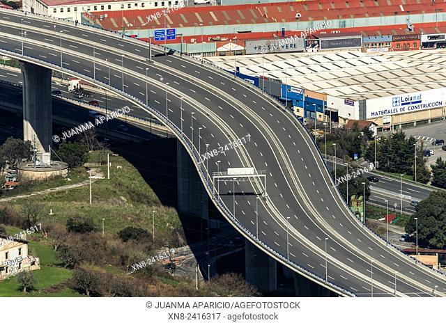 E-70 Motorway, Trapaga, Biscay, Basque Country, Euskadi, Spain, Europe