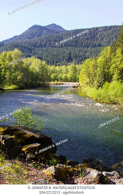 The Skykomish River in Western Washington State, USA