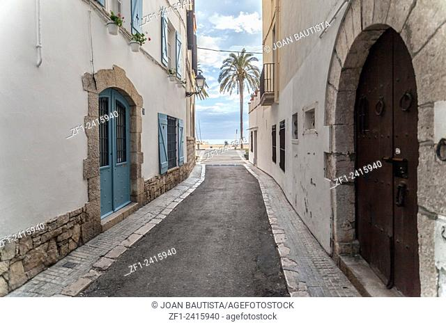 Street in Sitges,Catalonia,Spain