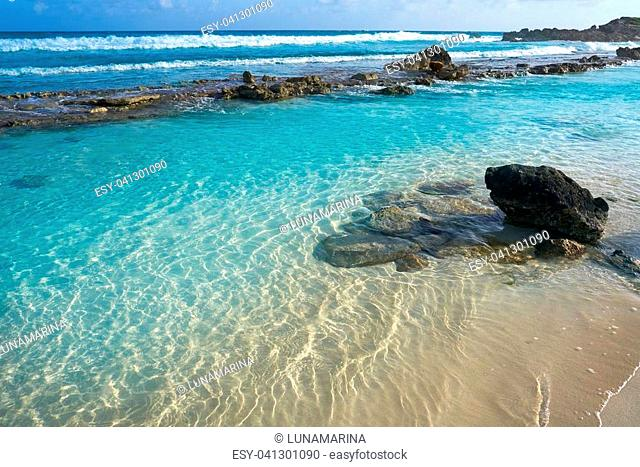 Cozumel east island beach in Riviera Maya of Mayan Mexico