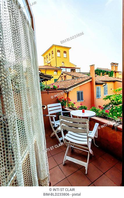 Balcony in Bologna, Emilia-Romagna, Italy