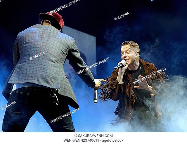 Macklemore performing at Manchester Arena Featuring: Macklemore Where: Manchester, United Kingdom When: 12 Apr 2016 Credit: Sakura/WENN.com