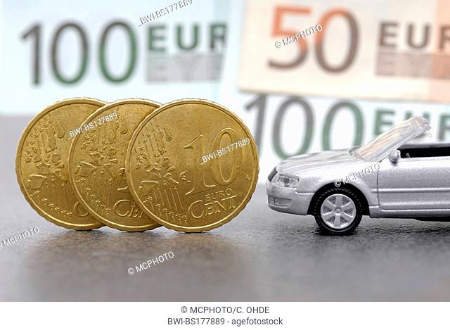 model car and euro cent