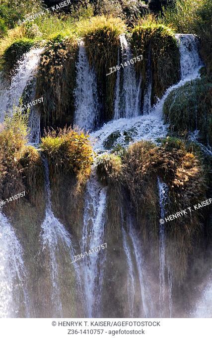 Krka waterfalls, Krka NP, Dalmatia, Croatia, Europe