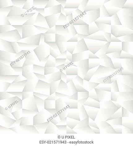 Weißes geknülltes Papier und Muster