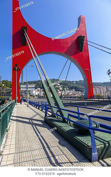 Puente de la Salve and Guggenheim Museum. Bilbao, Biscay, Basque Country, Spain