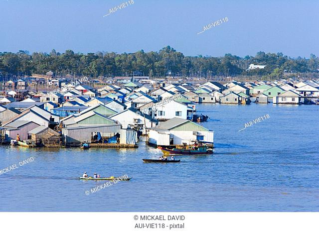 Vietnam - The South - The Delta of Mekong - Chau Doc - Floating houses