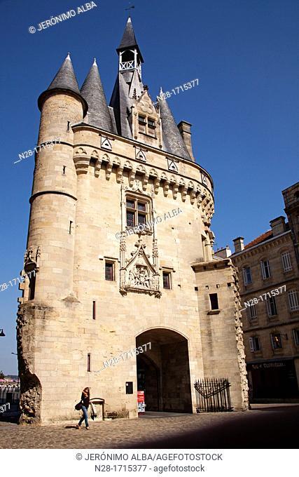 Porte Cailhau at Bordeaux Aquitaine Gironde France