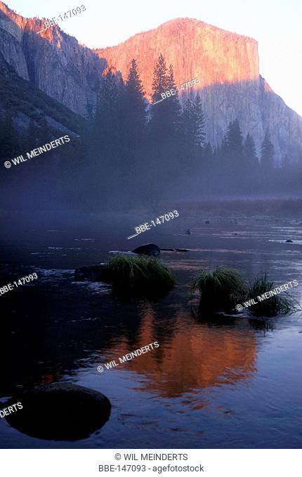 View to El Capitan in Yosemite NP